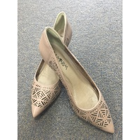 Forro Natural Kitten Heels in Nude