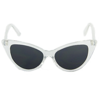 Lady Lucite Cat Eye Sunglasses in Clear Glass