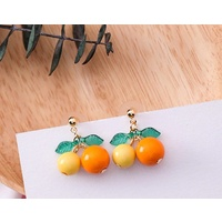 Fruity Drop Earrings in Orange/Yellow