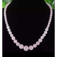 Beaded Necklace in Pastel Pink