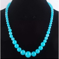 Beaded Necklace in Pastel Blue