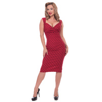 Diva Polka Dot Dress in Red
