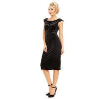 Darla Fitted Velvet Dress