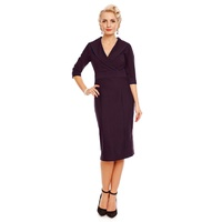 Fiona Fitted Wrap Dress