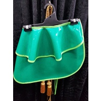 Women's 50's inspired Hostess Half Apron in Green Glitter Vinyl